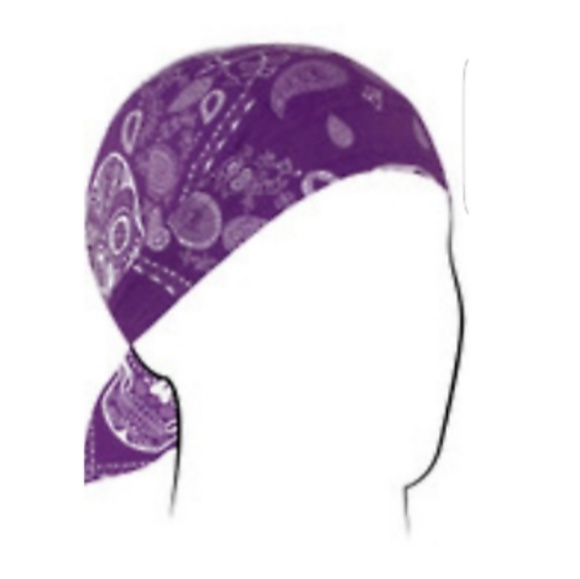 Zan headwear Accessories - Zan PURPLE SKULLS BANDANA HEAD WRAP